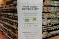 Dean's Natural Food Market is using a sustainabilty rating label system to catch eyes in their stores.