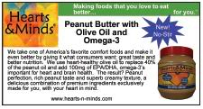 Hearts & Minds Peanut Butter with Olive Oil and Omega-3