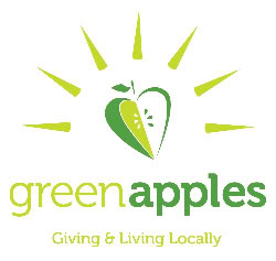 Green<br />             apples